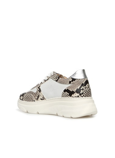 Divarese 5024255 Dokulu Kadın Deri Sneaker Beyaz